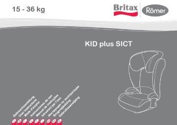 Скачать инструкцию для автокресла Romer Kid Plus SICT