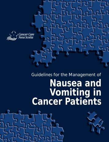 Quick Reference Version - Cancer Care Nova Scotia