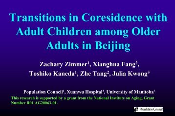 Transitions in Coresidence with Adult Children among Older Adults ...