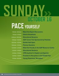 AAP 2011 Conference Sunday, October 16 Program Schedule