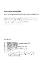 NS 19 11 07 Richtlinie Verwendung sozialräumliche ... - Köln-Vernetzt