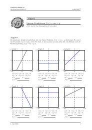 Lineare Funktionen f (x) = mx + q - Mathenachhilfe.ch