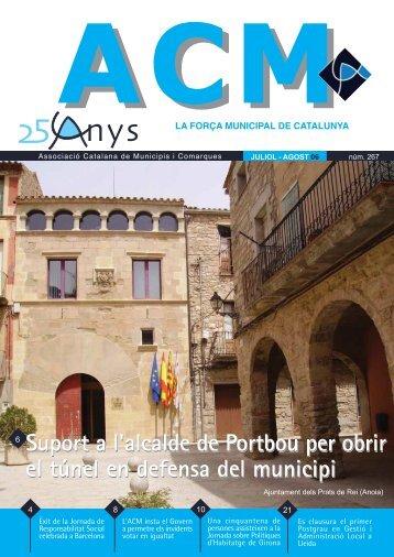 Núm. 267 - Juliol - Agost 2006 - Associació Catalana de Municipis