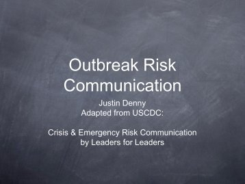Outbreak Risk Communication