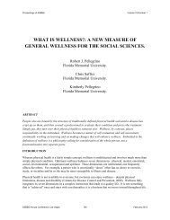 WHAT IS WELLNESS?: A NEW MEASURE OF ... - Asbbs.org