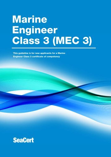 Marine Engineer Class 3 Certificate of Competency - Maritime New ...