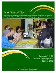 Don't Cancel Class Brochure - Oswego