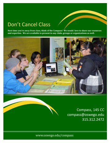 Don't Cancel Class Brochure - Oswego