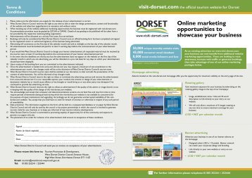 Online marketing opportunities to showcase your ... - Visit Dorset