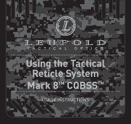 Using the Tactical Reticle System Mark 8TM CQBSSTM