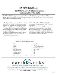 Earthwerks LVT Underlayment - Bolick Distributors