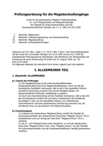 Allgemeines - Abteilung für Ältere Urgeschichte und ...