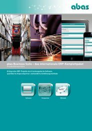 Produktbroschüre - ABAS Software AG