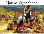 Chapter 1 - The Native Americans