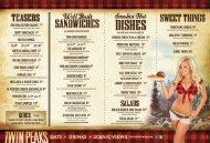 twin peaks menu - Twin Peaks Restaurants