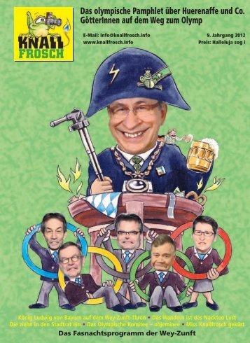 KnallFrosch 2012 - Das olympische Pamphlet über Huerenaffe und Co.