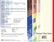 Stained Glass Product Literature - Bolick Distributors