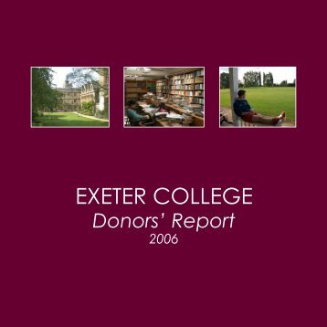 2005/2006 - Exeter College