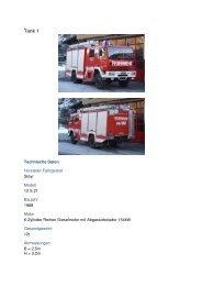 Tank 1 - Freiwillige Feuerwehr der Stadt Zell am See