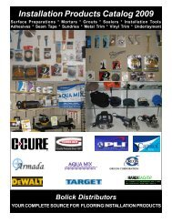 Installation Products Catalog 2009 - Bolick Distributors