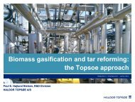 Tar Reforming The Topsoe Approach - Bioenergi