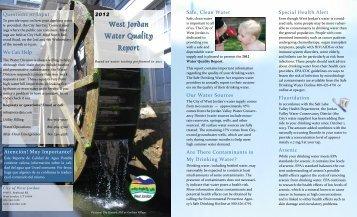 West Jordan Water Quality Report