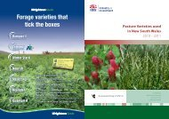 Forage varieties that tick the boxes - Grassland Society of NSW