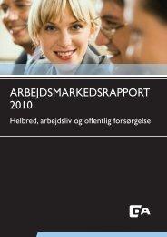 Arbejdsmarkedsrapport 2010.indd - Dansk Psykiatrisk Selskab