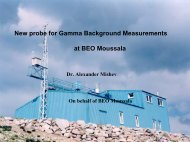 New probe for Gamma Background Measurements at BEO Moussala