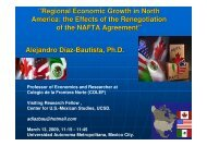 """Regional Economic Growth in North America: the Effects of the ..."