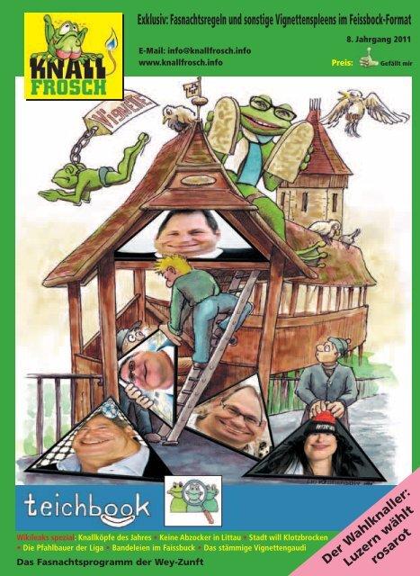 KnallFrosch 2011 - Fasnachtsregeln und sonstige Vignettenspleens im Feissbock-Format