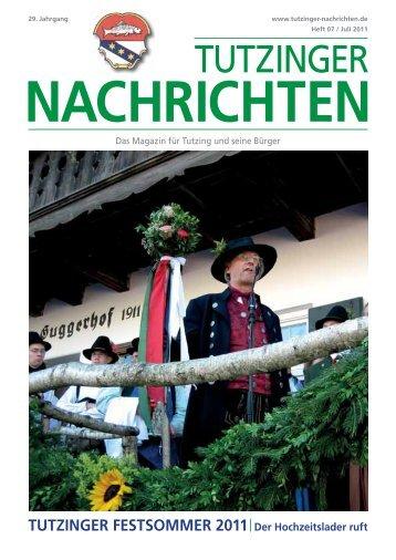 Download Heft 07 / Juli 2011 - Tutzinger Nachrichten