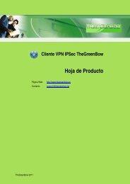 Cliente VPN IPSec TheGreenBow Hoja de Producto