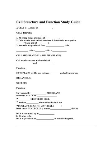 cell energetics study guide Cell processes and energy cell division cell processes and energy guided reading and study cell division guide for reading.