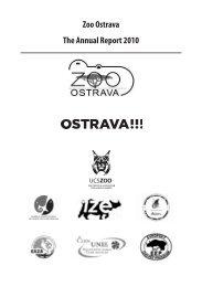 Zoo Ostrava The Annual Report 2010