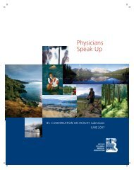 Physicians Speak Up - British Columbia Medical Association