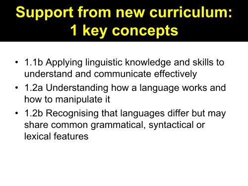 accelerate language learning by teaching the ... - Rachel Hawkes