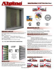 Catalog Cut Sheet - Alpine Overhead Doors