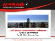 28th Annual Texas Aviation Conference - Texas A&M Transportation ...