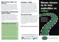 Nieuwe strepen op de weg - Provincie Groningen