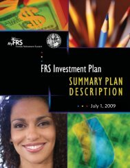 FRS Investment Plan Summary - Lake County
