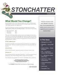 StonChatter First Edition 2013 - StonCor Africa