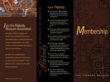 Membership Brochure - Peabody Museum - Harvard University
