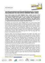 Anmeldestart für den ECCO INDOOR TRAIL 2014