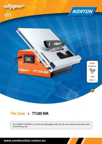 Tile Saw TT180 BM - Norton Construction Products