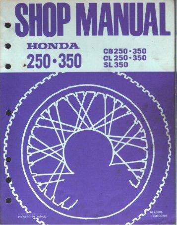 CB250 350 Factory Manual