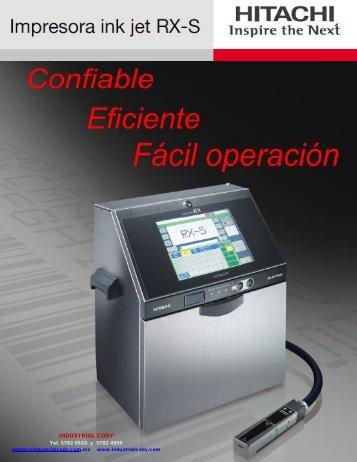 Brochure Hitachi RX-S - Logismarket, el Directorio Industrial