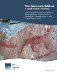 Water Challenges and Solutions in First Nations Communities