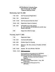 AFCEA-Belvoir Industry Days April 16 through 18, 2008 Gaylord ...