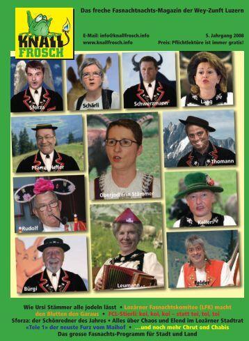 KnallFrosch 2008 - Wie Ursi Stämmer alle jodeln lässt